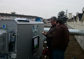 Installation d'une centrale de traitement d'air