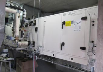 Installation d'une centrale de traitement d'air SA Doloise