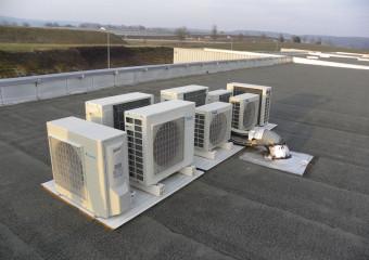 Groupe extérieur climatisation Usine ABEO